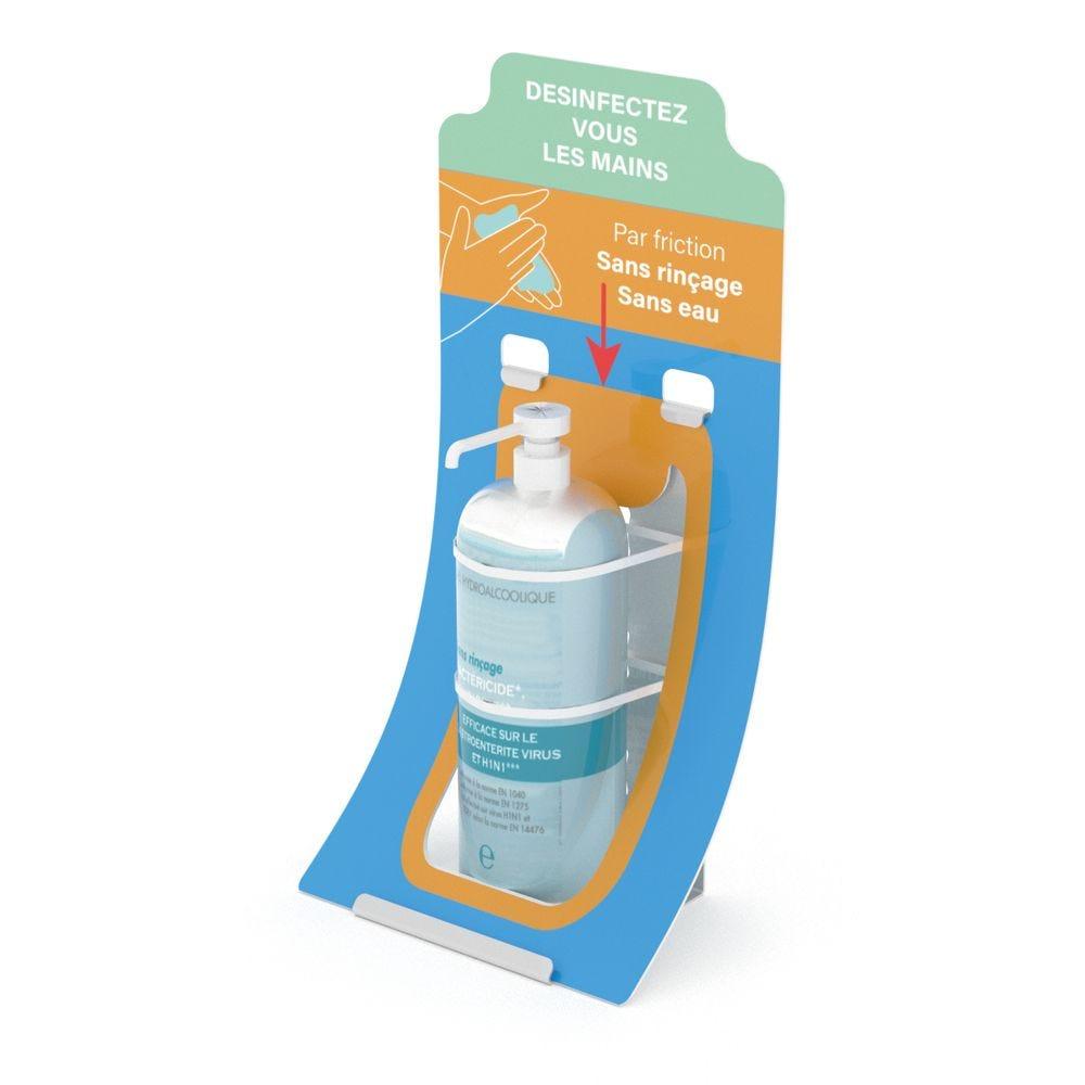 Borne de comptoir-support flacon de gel V1 - Vendu par 8 (photo)