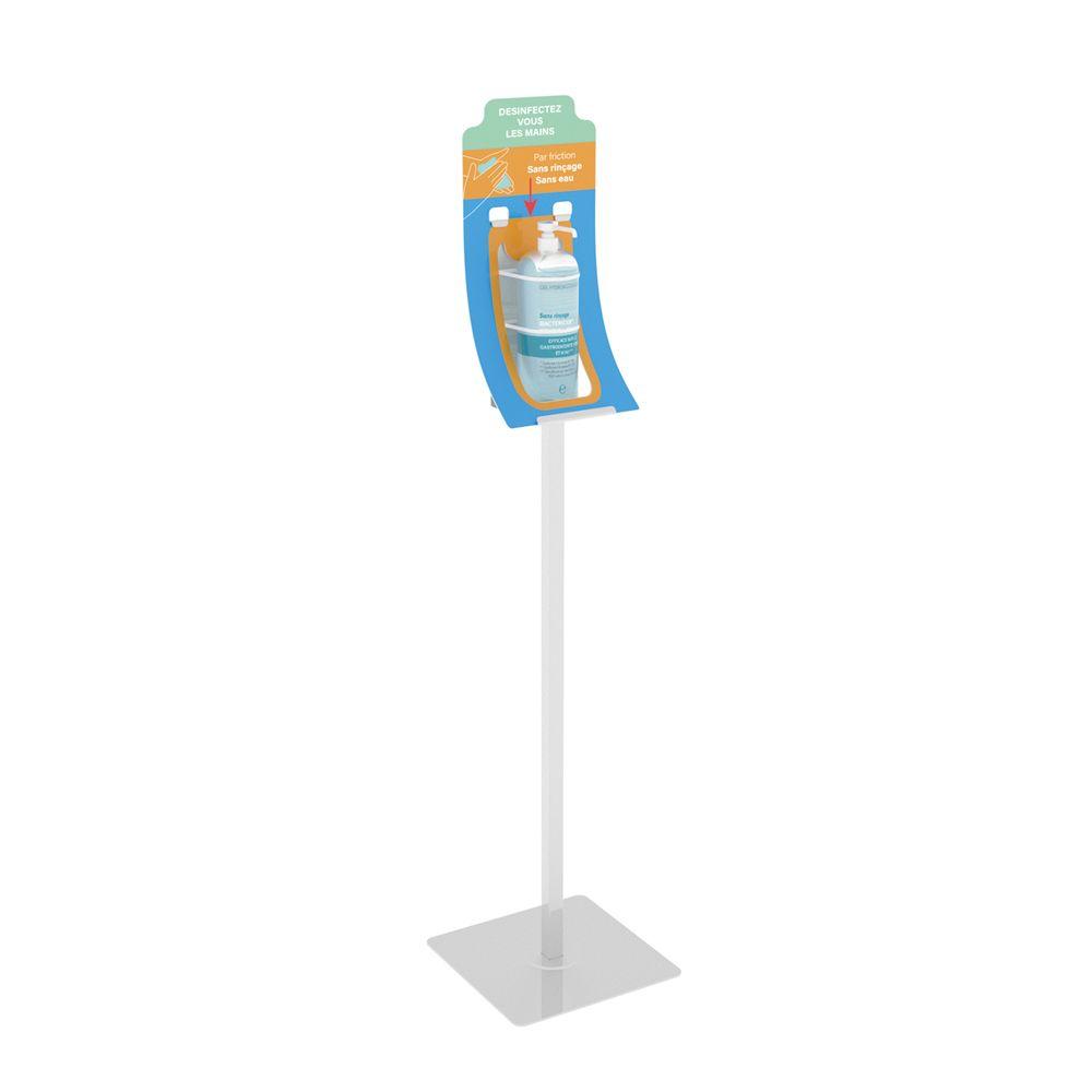 Borne sur pied-support flacon de gel V1 - Vendu par 2 (photo)