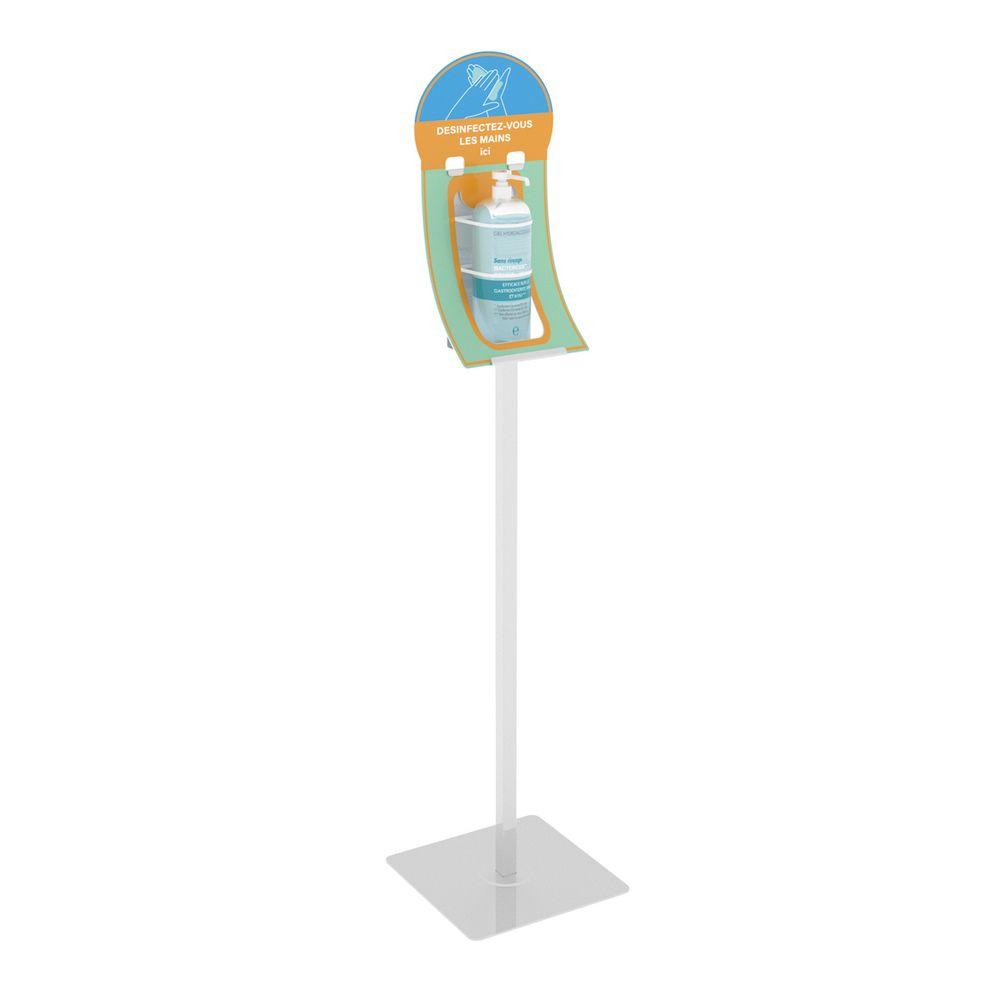 Borne sur pied-support flacon de gel V2 - Vendu par 4 (photo)