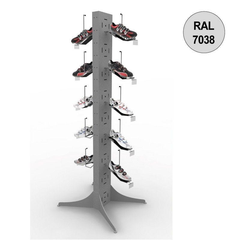 Totem vélo 1800 mm - totem 10 chaussures - 5 niveaux – gris