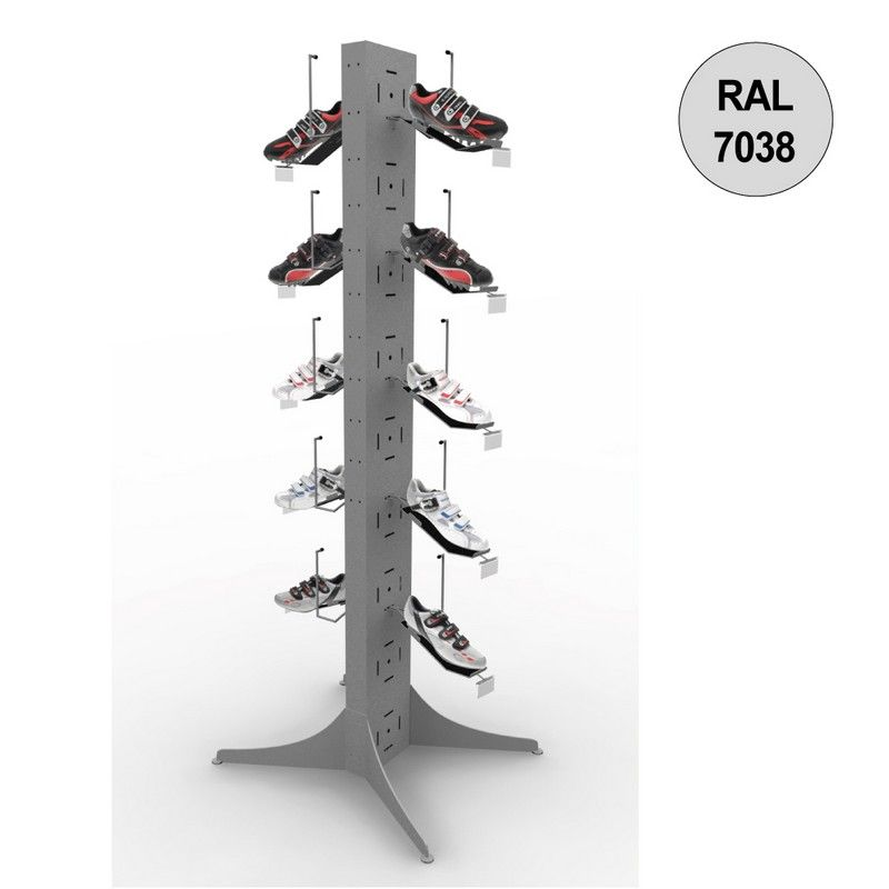 Totem vélo 1800 mm - totem 10 chaussures - 5 niveaux – gris - par 4
