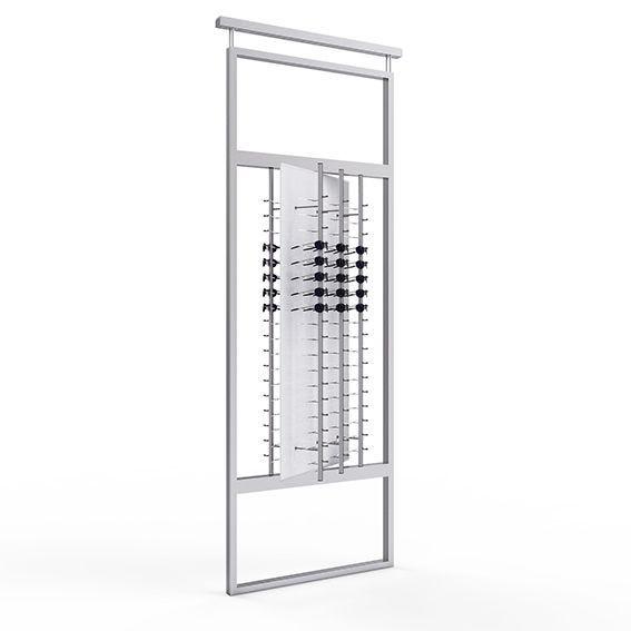 Présentoir TELESCOPE avec un panneau rotatif équipé de 6 colonnes ouvertes