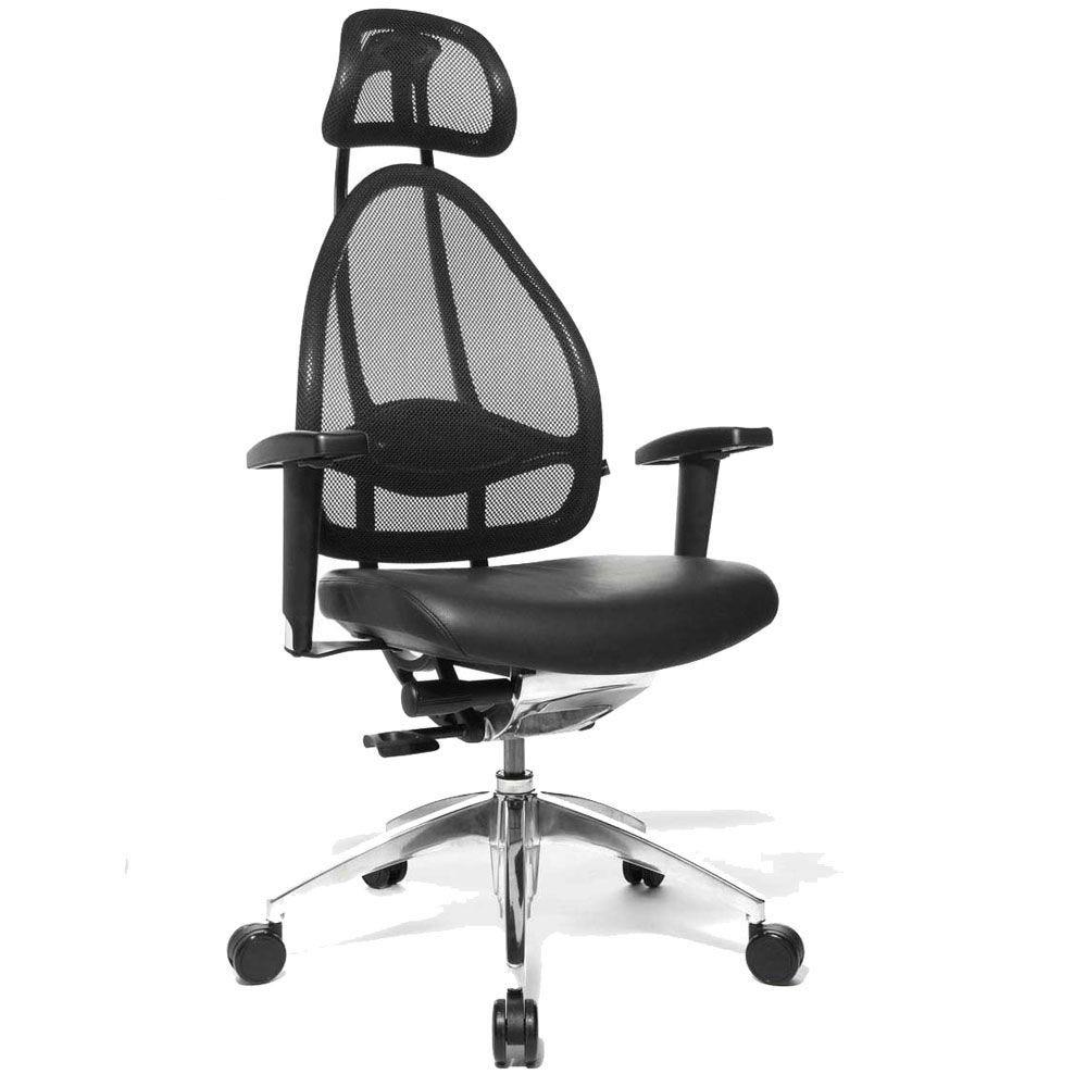 Siège de bureau ergonomique spécial mal de dos noir (photo)