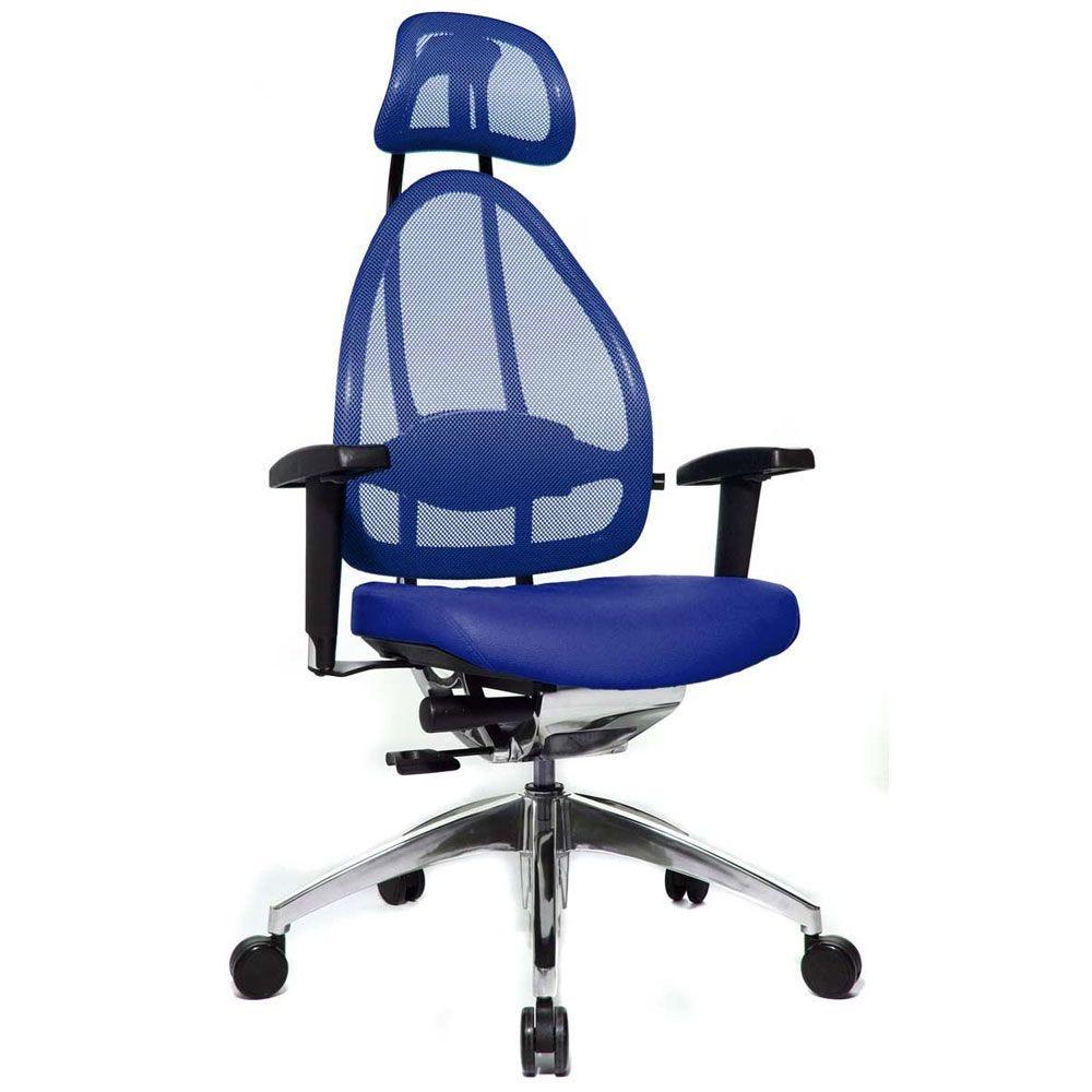 Siège de bureau ergonomique spécial mal de dos bleu (photo)
