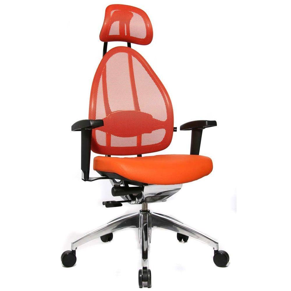 Siège de bureau ergonomique spécial mal de dos orange (photo)