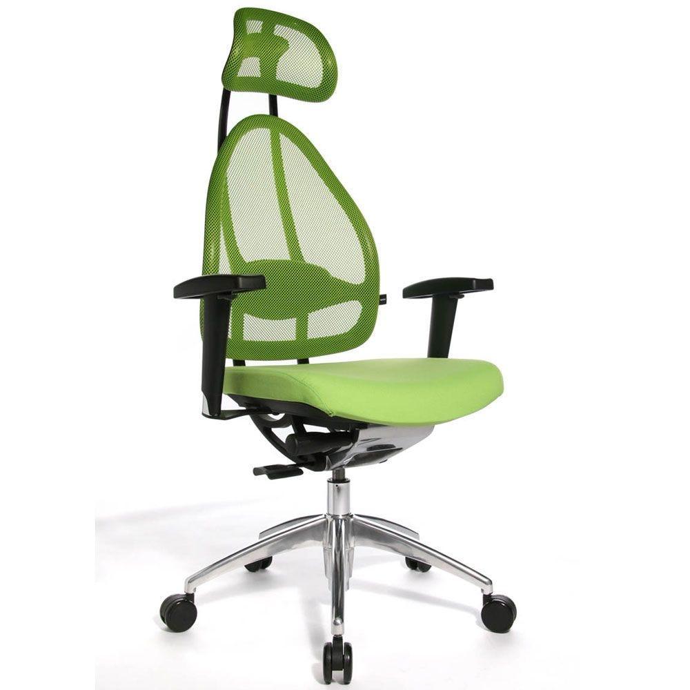 Siège de bureau ergonomique spécial mal de dos vert