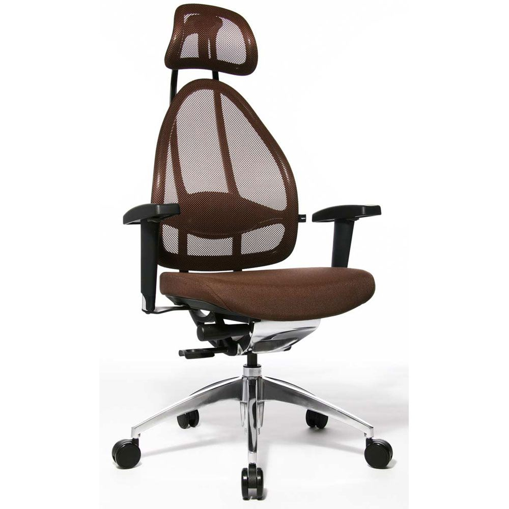 Siège de bureau ergonomique spécial mal de dos marron (photo)