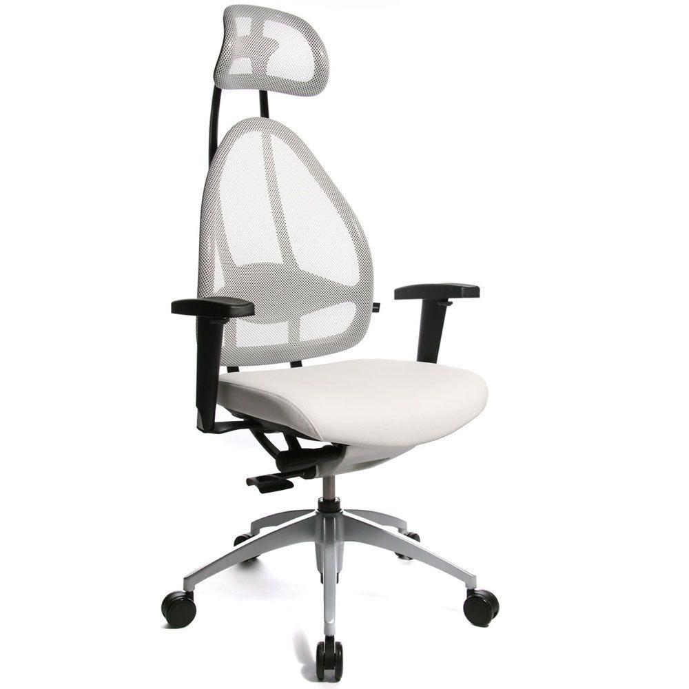 Siège de bureau ergonomique spécial mal de dos blanc (photo)