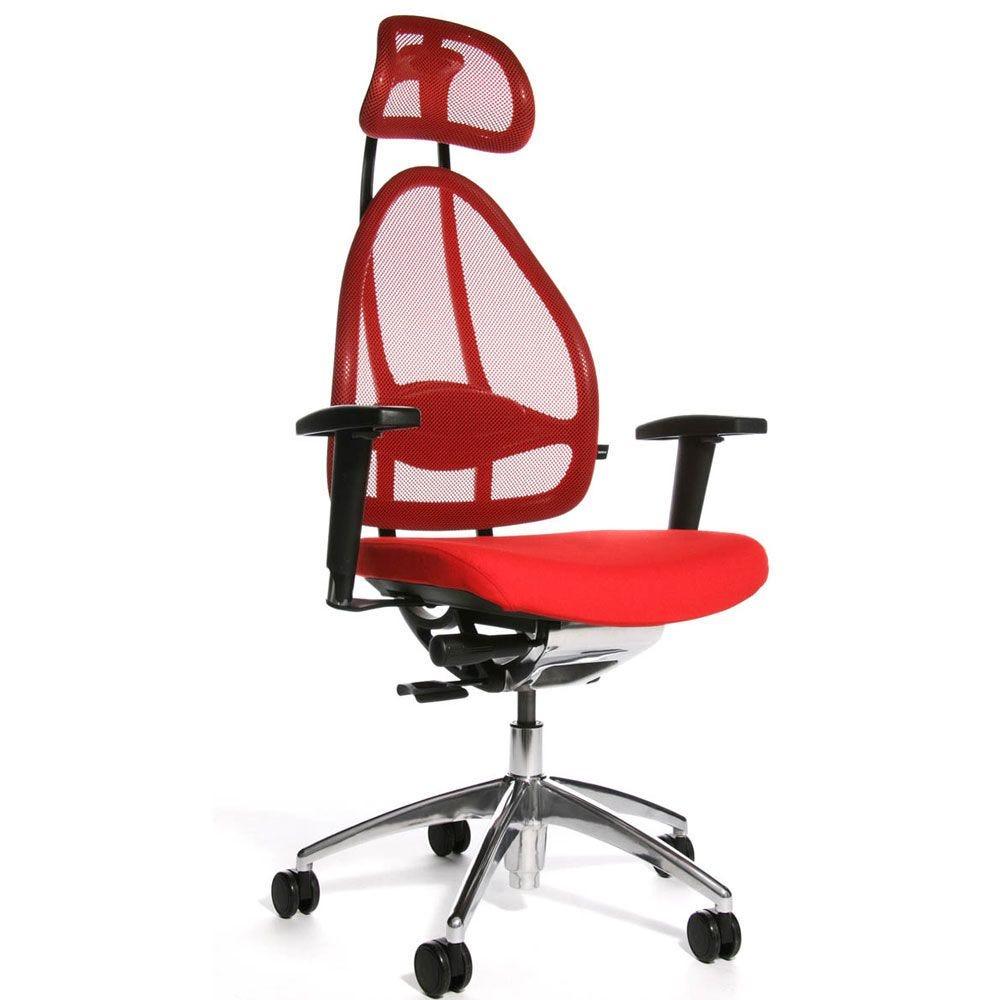 Siège de bureau ergonomique spécial mal de dos rouge