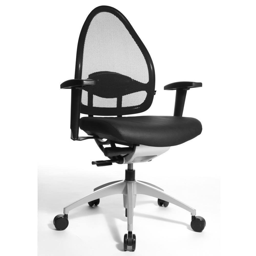 Fauteuil de bureau ergonomique bas dossier noir (photo)