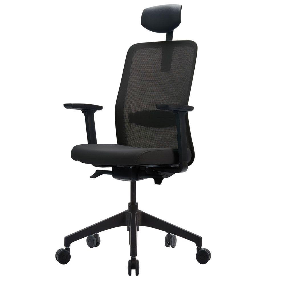 Fauteuil de bureau ergonomique idéal - structure noire (photo)