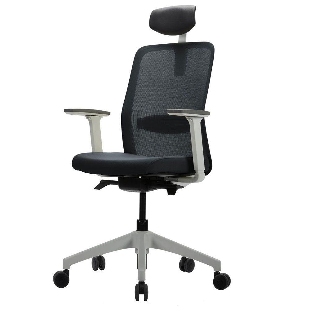 Fauteuil de bureau ergonomique idéal - structure blanche (photo)