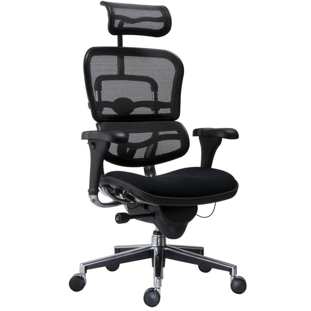Fauteuil de bureau ergonomique spécial lombaire noir (photo)