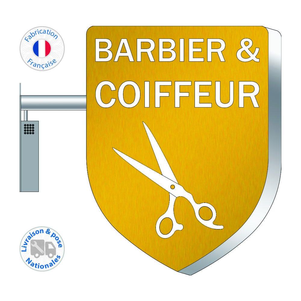Enseigne LEDs – Barbier – Coiffeur N°3 - 75x55 cm - Pose incluse