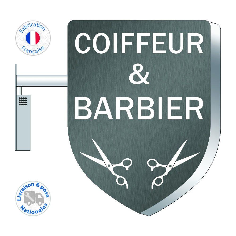 Enseigne LEDs – Barbier – Coiffeur N°5 - 75x55 cm - Pose incluse