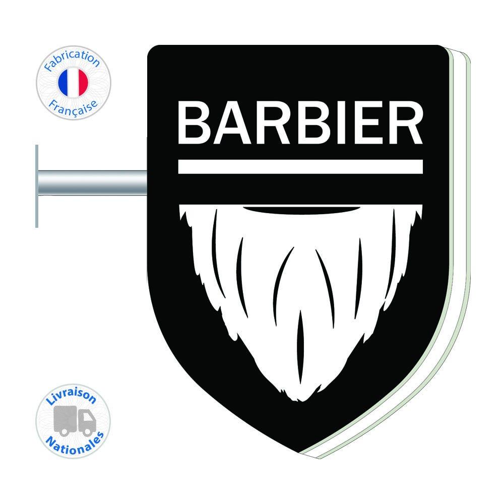 Enseigne - Barbier N°1 - 75x55 cm - Livraison incluse