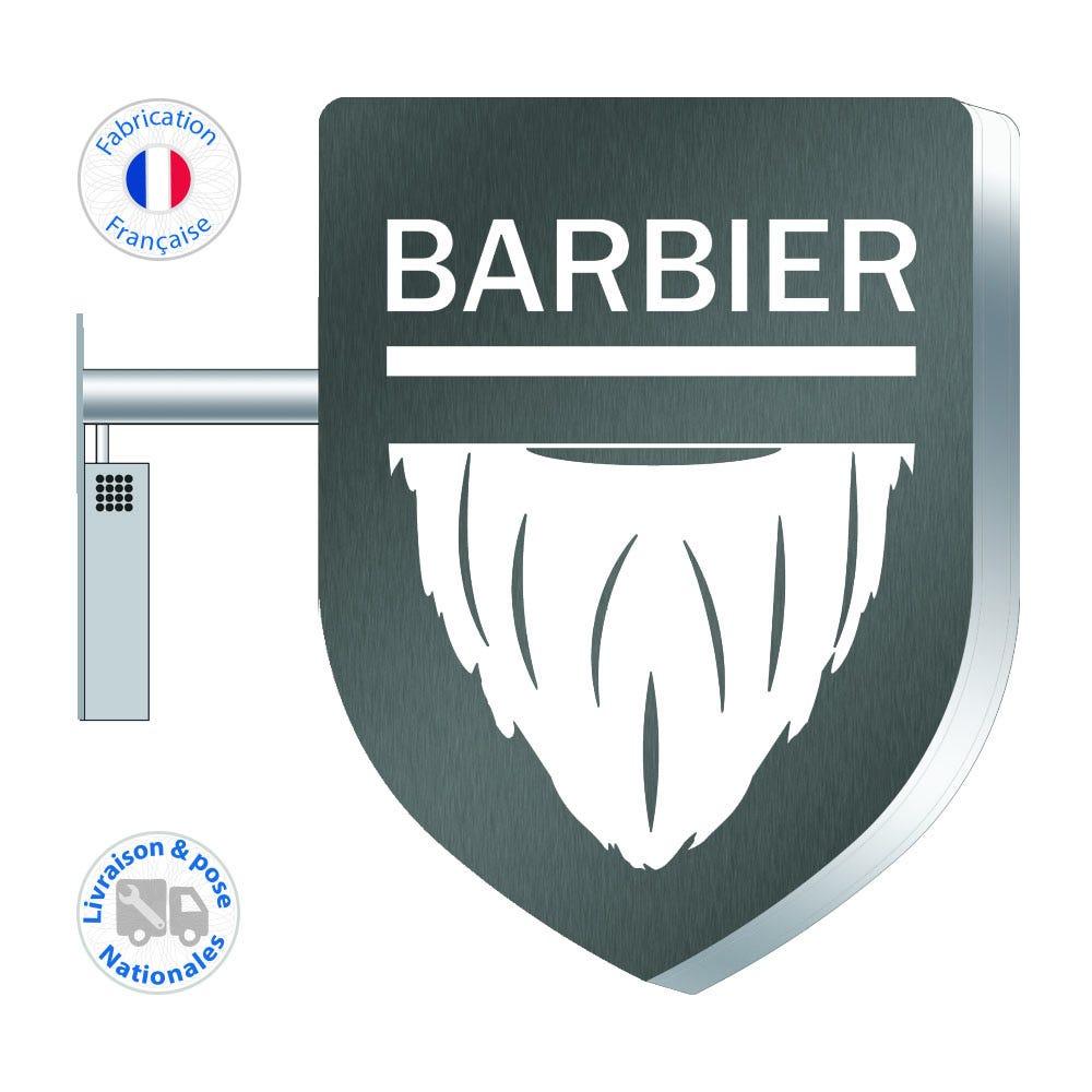 Enseigne LEDs – Barbier N°2 - 75x55 cm - Pose incluse