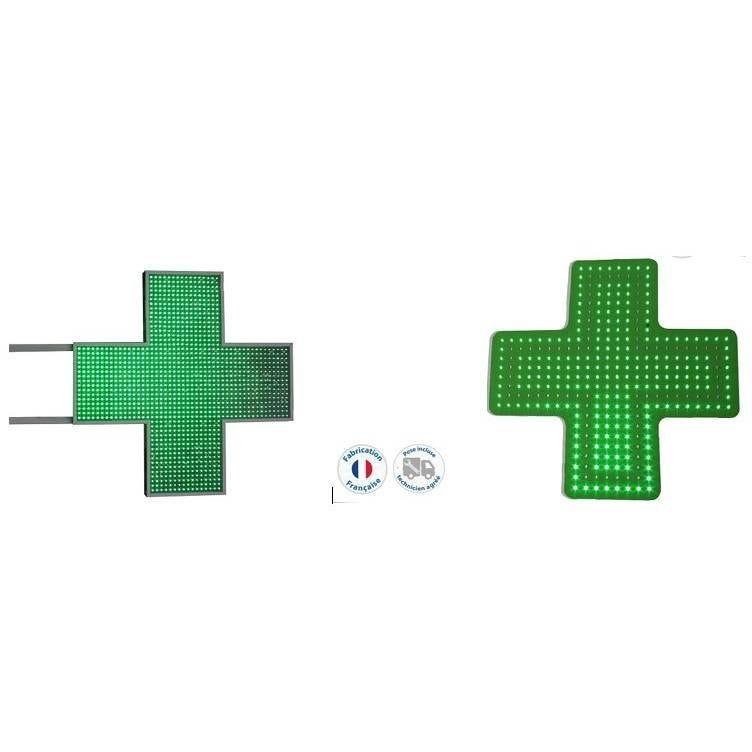 2 enseignes lumineuses led pharmacie n°10 et 12 - pose incluse (photo)