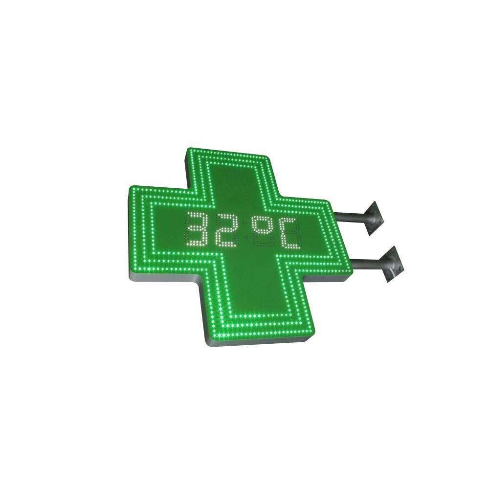 Enseigne lumineuse led pharmacie n°11- 95x95 cm - pose incluse (photo)