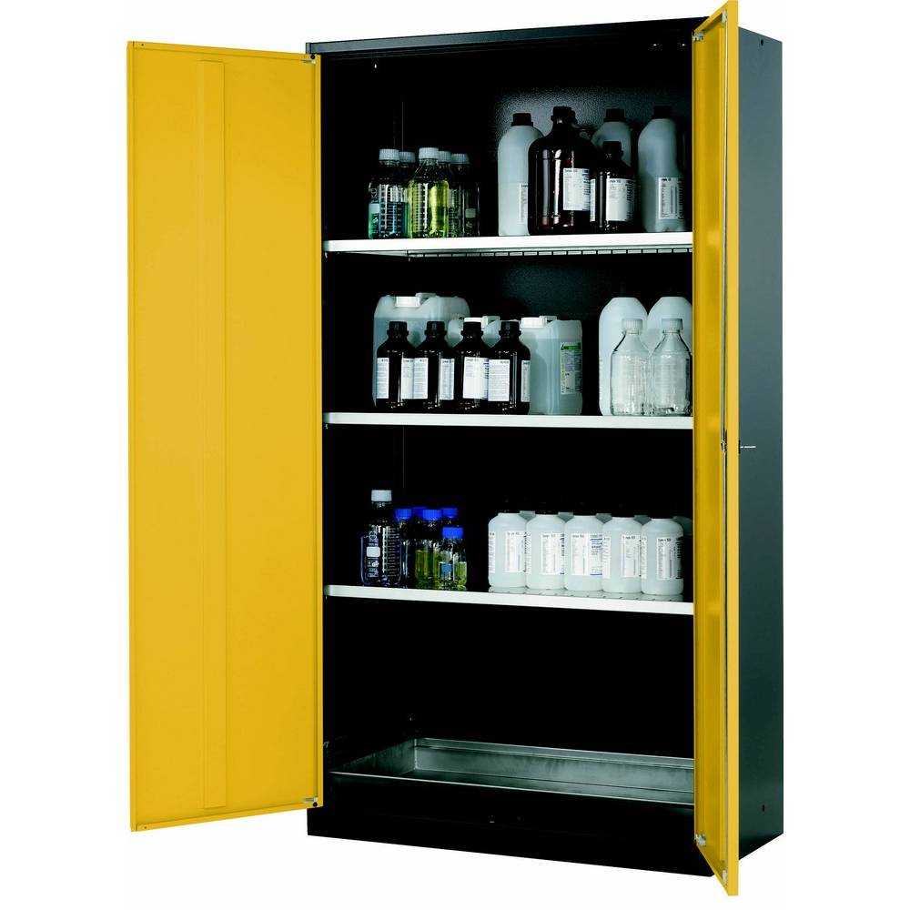 Armoire de stockage 2 portes battantes jaunes l1055 x p520 x h1950 mm (photo)