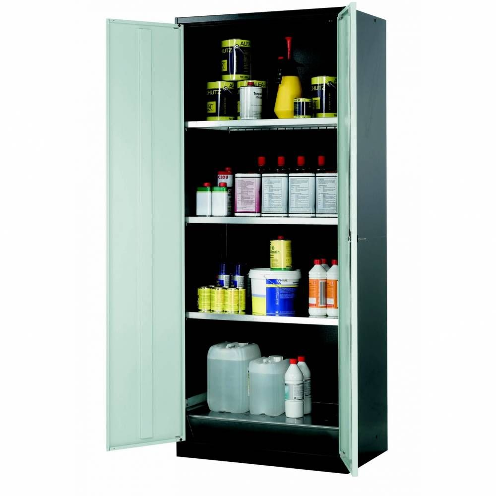 Armoire de stockage 2 portes battantes grises l810 x p520 x h1950 mm (photo)