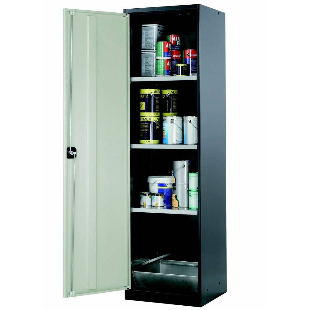 Armoire de stockage 1 porte battante grise l545 x p520 x h1950 mm (photo)