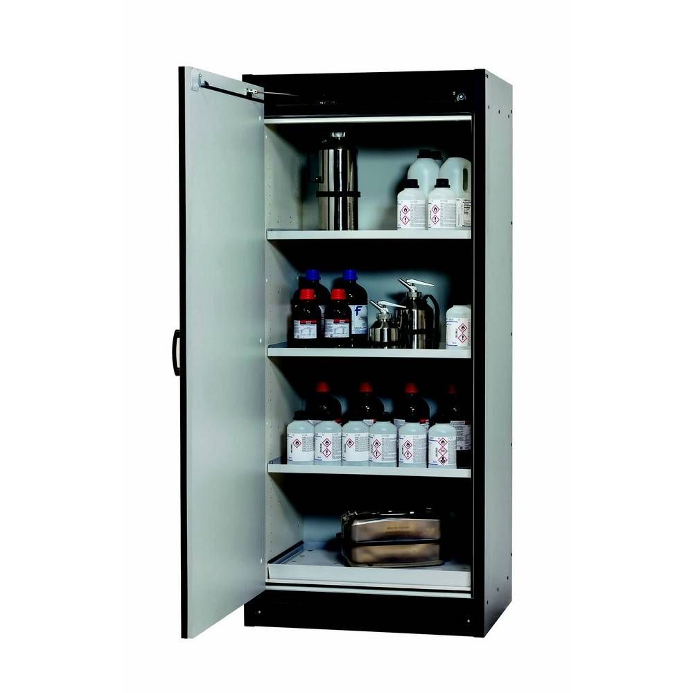 Armoire anti-feu 30 min 1 porte battante grise l864 x p620 x h1947 mm (photo)