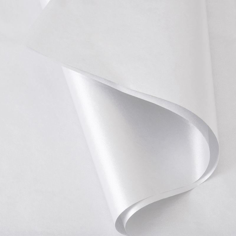 Papier de soie 50x75 cm - coloris blanc nacré - 200 feuilles (photo)