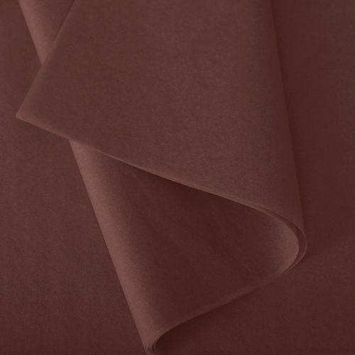 Papier de soie 50x75 cm - coloris chocolat - 240 feuilles - par 2