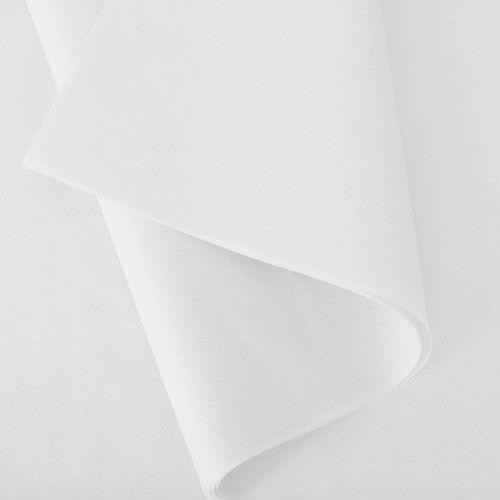 Papier de soie 50x75 cm - coloris blanc - 240 feuilles (photo)