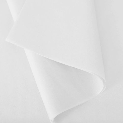 Papier de soie 50x75 cm - coloris blanc - - 240 feuilles - par 3 (photo)