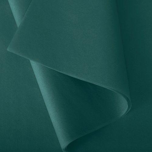 Papier de soie 50x75 cm - coloris vert émeraude - 240 feuilles - par 3