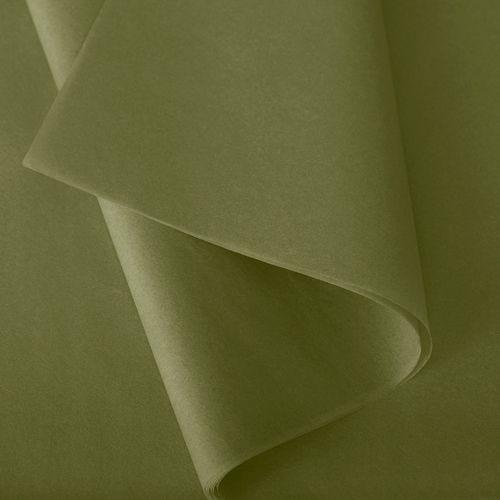 Papier de soie 50x75 cm - coloris vert mousse - 240 feuilles