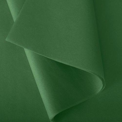 Papier de soie 50x75 cm - coloris vert sapin - 240 feuilles