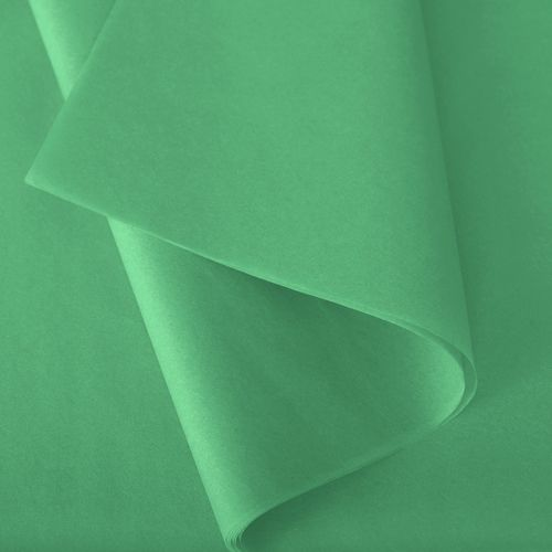 Papier de soie 50x75 cm - coloris vert prairie - 240 feuilles - par 2