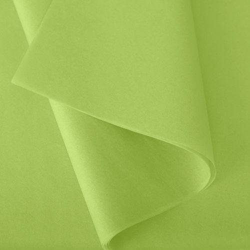 Papier de soie 50x75 cm - coloris vert pomme - 240 feuilles