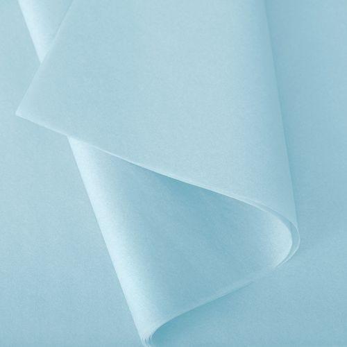 Papier de soie 50x75 cm - coloris bleu arctique - 240 feuilles