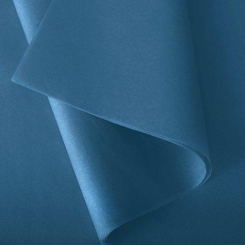 Papier de soie 50x75 cm - coloris turquoise - 240 feuilles - par 2