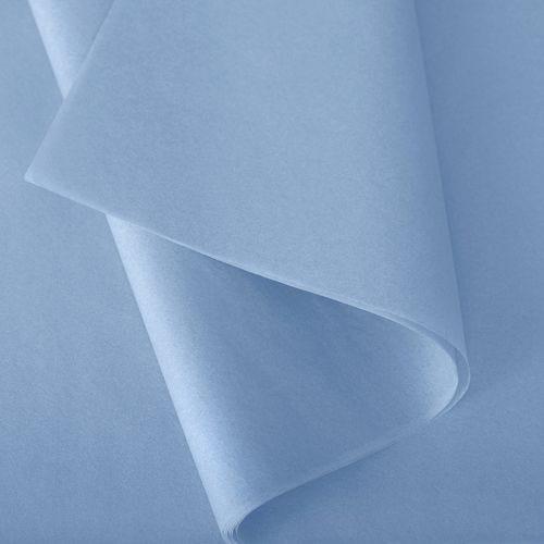Papier de soie 50x75 cm - coloris bleu ciel - 240 feuilles