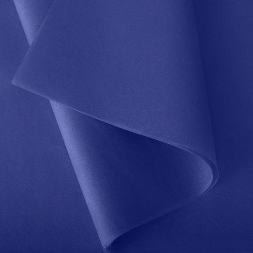 Papier de soie 50x75 cm - coloris bleu roi - 240 feuilles - par 3