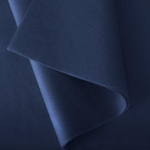 Papier de soie 50x75 cm - coloris bleu nuit - 240 feuilles