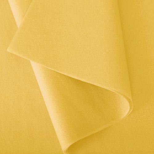 Papier de soie 50x75 cm - coloris bouton d'or - 240 feuilles - par 3