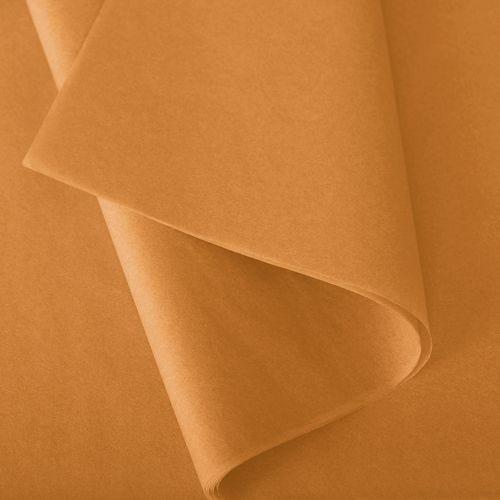 Papier de soie 50x75 cm - coloris caramel - 240 feuilles - par 2