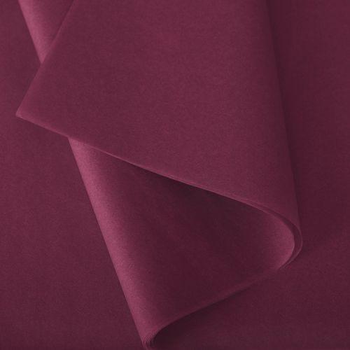 Papier de soie 50x75 cm - coloris bordeaux - 240 feuilles - par 3