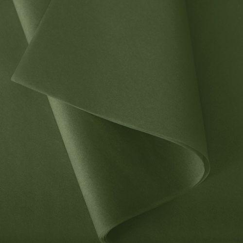 Papier de soie 50x75 cm - coloris vert olive - 240 feuilles - par 3