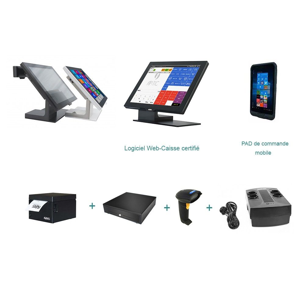 Pack encaissement plus + pad option facturation commerçant indépendant (photo)