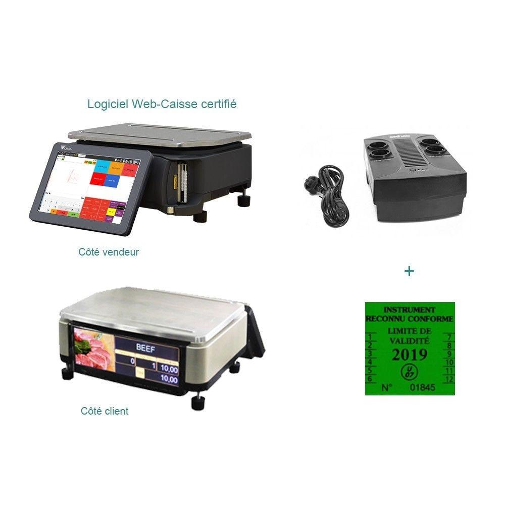 Pack encaissement balance pesage compact start commerce indépendant (photo)