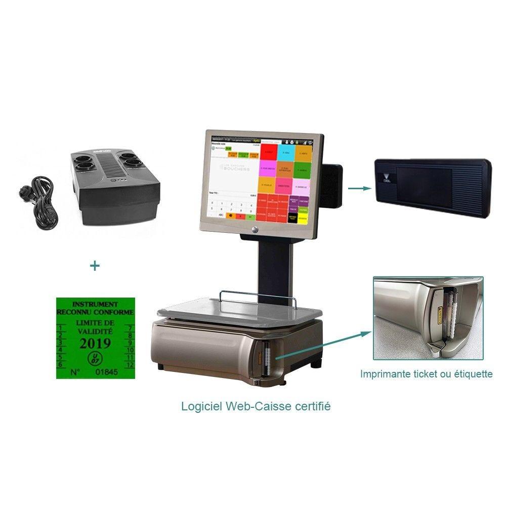 Pack encaissement balance pesage plus option facturation commerce indépendant (photo)