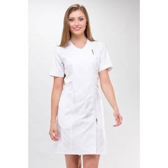 ROBE blanche esthéticienne Dana couture - XL