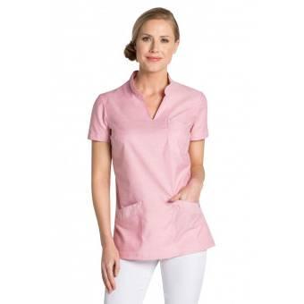 Tunique médicale col Mao rose - XS